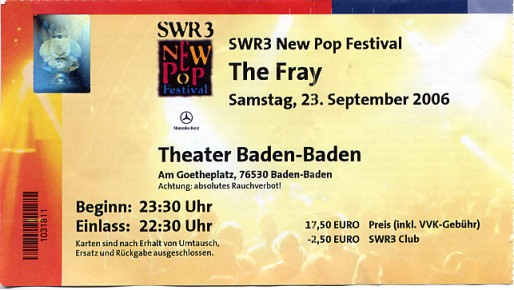 The Fray Ticket
