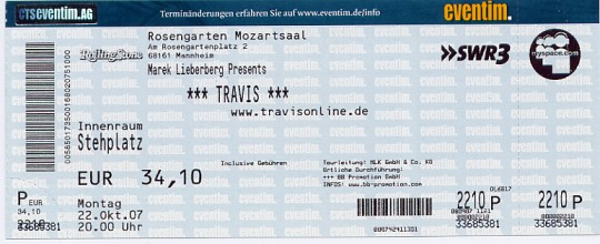Ticket Travis