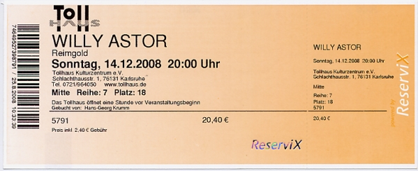 Ticket Willy Astor