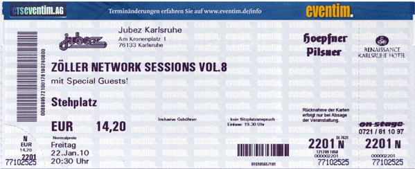 Ticket Zöller Network Session VIII
