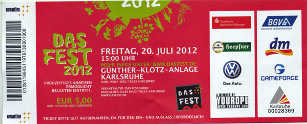 Das Fest Ticket