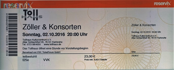 Zöller & Konsorten Ticket