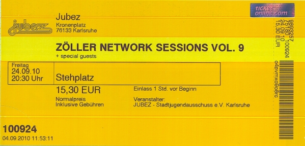 Ticket Zöllers Network Session 9