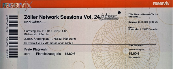 Zöller Network Session Vol 24 Ticket