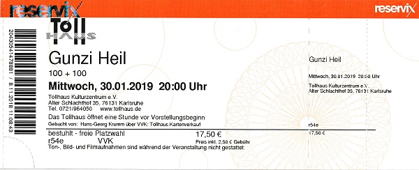 Gunzi Heil Ticket